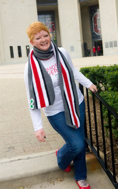 Ohio State Helmet Striped Crochet Scarf that needs to be in my closet.