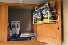 These travel trailer organization ideas are perfect for preparing the RV for camping this summer. Get organized for camping this year! Travel Trailer Organization, Trailer Storage, Trailer Decor, Rv Organization, Rv Storage, Storage Spaces, Storage Ideas, Truck Camping, Camping Hacks