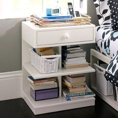 ahh, finally a bedside table that can actually hold enough books