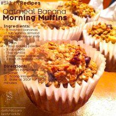 Oatmeal Banana Morning Muffins