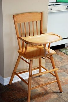 please, can i please just have a wooden high chair; i can't stand the huge plastic ones.