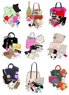 EmmaKisstina Illustrations by Kristina Hultkrantz: WHAT'S IN MY BAG
