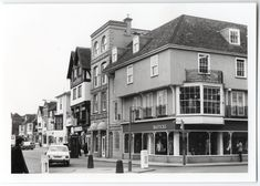 Shows Bastick's shop (formerly Brinsmeads music store), Wiltons and the Galleon Cafe. Catherine Street, Music Store, Salisbury, Street View, Shop