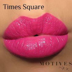 Motives®️️ for La La Mineral Lipstick in Times Square