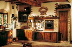 rustikale Küchen Design regale idee