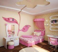Decoracion Hogar - Comunidad - Google+ False Ceiling Living Room, Bedroom False Ceiling Design, Room Interior Design, Kids Room Design, Small Living Rooms, New Living Room, Childrens Room, Small Wall Decor, Pink Bedroom For Girls