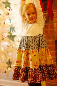 Just Deanna: A Christmas twirly dress-and a semi tutorial