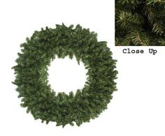 36 Canadian Pine Artificial Christmas Wreath  Unlit * This is an Amazon Affiliate link. Learn more by visiting the image link.