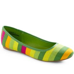 Love these green flats!