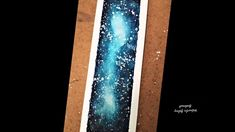 Hello :) This is a painting of a galaxy bookmark. Materials used: Fabriano mix media paper Sakura koi watercolors Watercolor Round Brush Taklon size 12 Sakura Koi Watercolor, Mixed Media, Make It Yourself, Youtube, Blue, Painting, Painting Art, Paintings, Painted Canvas
