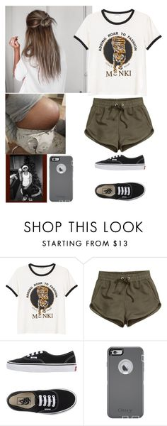 """""""Doctor Appointment with boo"""" by lexiii-caniff ❤ liked on Polyvore featuring Monki, H&M, Vans and OtterBox"""