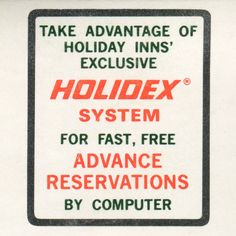 Old Holiday Inn Matchbook
