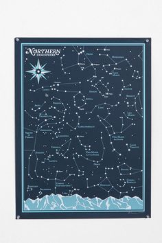 Brainstorm Print & Design Northern Hemisphere Print - I would hang this near my writing space, 'cause stars always inspire.