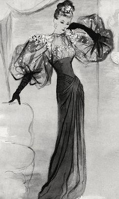 Fashion Illustration Vintage, Illustration Mode, Illustrations, Fashion History, Fashion Art, Vintage Fashion, 70s Fashion, Mode Poster, Fashion Figures
