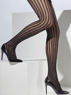 67e3e39192563 22 Best Striped tights images | Tights, Socks, Black Stockings