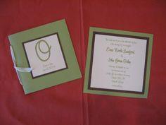 Square Layered Wedding Invitations with matching Program.