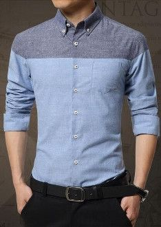 Get $10 instant discount on this Men's Long Sleeve Button Front Casual shirt. Reg $39.95. Now $29.95! Description: Mens Color Block Long Sleeve Shirt Fabric: Cotton Blend Color Available: Blue, Grey,
