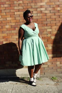 Wrap dress and saddle shoes #fat #bbw #curvy #fullfigured #chubby #plussize #thick #beautiful #sexy