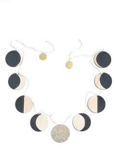 Moon Phase Wooden Garland