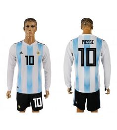 Argentinien Lionel Messi 10 Heimtrikot WM 2018 Herren Langarm Messi 10, Lionel Messi, Barcelona, Angeles, Sports, Jackets, Tops, Argentina, Unitards