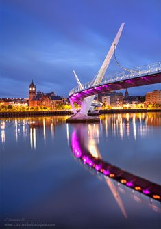 ˚The Peace Bridge is a cycle and footbridge bridge across the River Foyle in Derry, Northern Ireland.