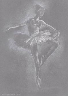 Ballerina drawing. Ballerina Illustration. Ballet by madareli,