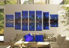 Tablou Manhattan 2899 Dimensiune: 2x 40x50 cm + 2x 30x70 + 3x 30x80 cm Total: 230x80 cm Photo Wall, Frame, Modern, Home Decor, Picture Frame, Photograph, Trendy Tree, Decoration Home, Room Decor