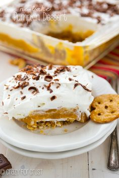 No Bake Pumpkin Dessert - the best pumpkin lush!