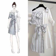 Ideas For Fashion Model Drawing Illustrations Cute Fashion, Look Fashion, Trendy Fashion, Korean Fashion, Fashion Models, Girl Fashion, Fashion Model Drawing, Fashion Drawing Dresses, Fashion Illustration Dresses