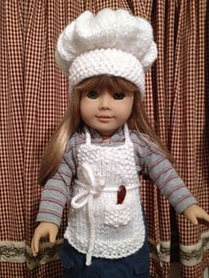 Crochet Pattern Chef Hat : 1000+ images about Knit doll clothes on Pinterest Doll ...