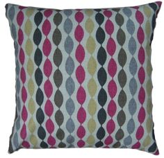 """Cushion Cover Handmade Twist Sorbet Clarke and Clarke 16"""" Yellow Pink Grey Brown from £3.75 www.hollesleycottagecrafts.co.uk"""
