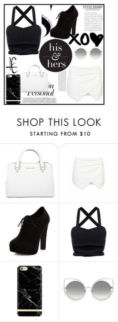 """""""Look#75"""" by aninha-136 on Polyvore featuring moda, Michael Kors, New Look, Richmond & Finch e Marc Jacobs"""