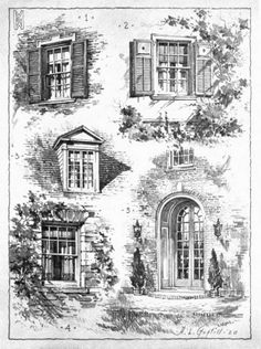 Some Door and Window Suggestions, with Considerable Attention to the Representation of the Smaller Architectural Details.