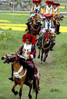 Harvest festival in Tibet