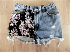 VINTAGE Floral High-Waisted distressed shorts. $25.00, via Etsy.