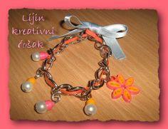 handmade, quilled bracelet