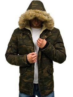Maskáčovo-khaki pánská zimní parka Bolf 4662