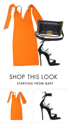 """""""Untitled #1961"""" by fashionistaannie ❤ liked on Polyvore featuring Roberto Cavalli, Dsquared2 and Chanel"""