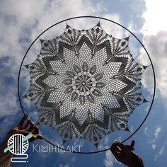 Diameter ring en het aantal toeren - Kim Haakt Crochet Mandala, Crochet Doilies, Dream Catcher Mandala, Techno, Inspiration, Mandalas, Ring, Knowledge, Biblical Inspiration