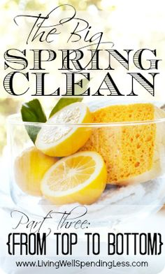 Spring Cleaning from Top to Bottom {Includes awesome printable checklist!}