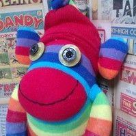 Rainbow Ronnie Sock Monkey