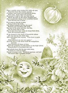 "Halloween Ideals 1966 ""The Man in the Moon"" (Part Halloween Poems, Vintage Halloween Cards, Samhain Halloween, Halloween Artwork, Halloween Ii, Halloween Prints, Halloween Images, Halloween Projects, Holidays Halloween"