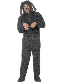 Adult Fluffy Dog Onesie Costume by Fancy Dress Ball