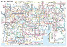 東京・横浜・千葉路線図