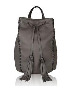 Grey Lattice Backpack