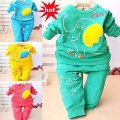 Купить товар2015 горячие мультфильм детская одежда весна костюм конфеты цветные кнопки слона эластичного рукава, детская одежда ClothingYTY036 в категории Комплекты одеждына AliExpress.                    Наш сервис для покупателя:                              Мы могли пометить пакет как  подарок  и требо