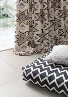 South Beach Collection Lahood.co.nz South Beach Miami, Monochrome, New Homes, Cushions, Throw Pillows, Black And White, Interior, Ethnic, Fabrics