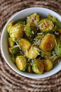 Parmesan and Garlic Roasted Brussels Sprouts
