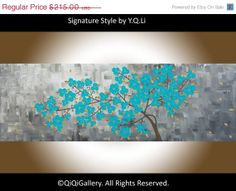 Original Art Abstract Painting Impasto OIL by QiQiGallery on Etsy, $182.75