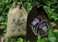 Celtic Thistle tarot bag by medievalmuse on Etsy